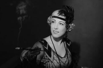 Fotoshoot vrouw jaren 20