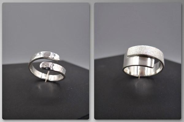 Zilveren ring smeden