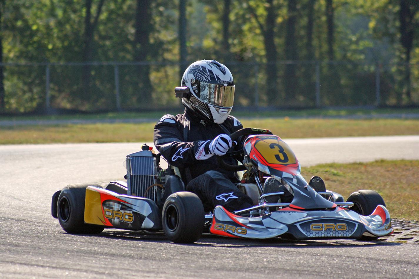 Als een coureur over het circuit!