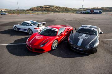 Lamborghini, Ferrari, Aston Martin en Porsche