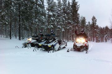 Sneeuwscooteren Zweden
