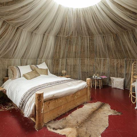 Slapen in een stro-iglo