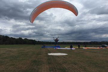 Landing paragliden