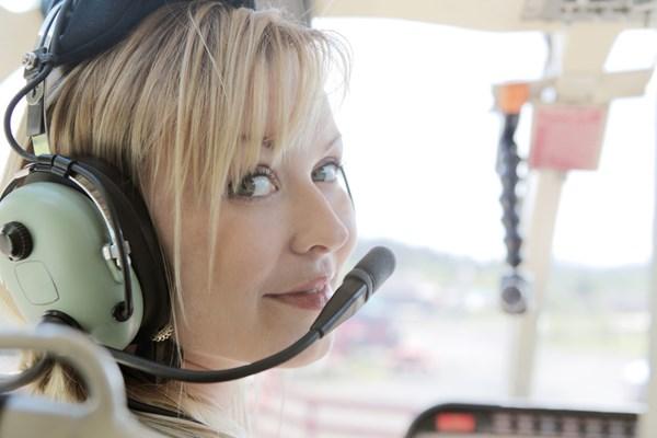 Vliegen in een helikopter