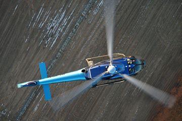 Bovenaanzicht helikopter