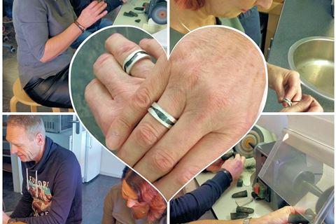 Workshop zilveren relatie ringen maken
