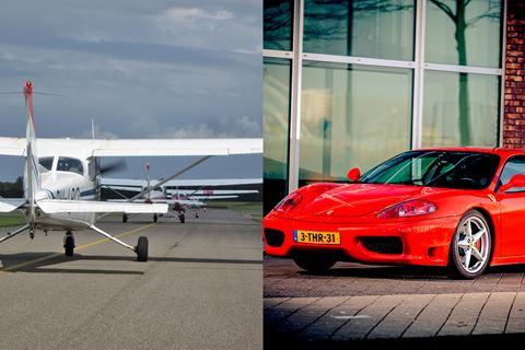 Zelf Ferrari rijden en vliegtuig vliegen