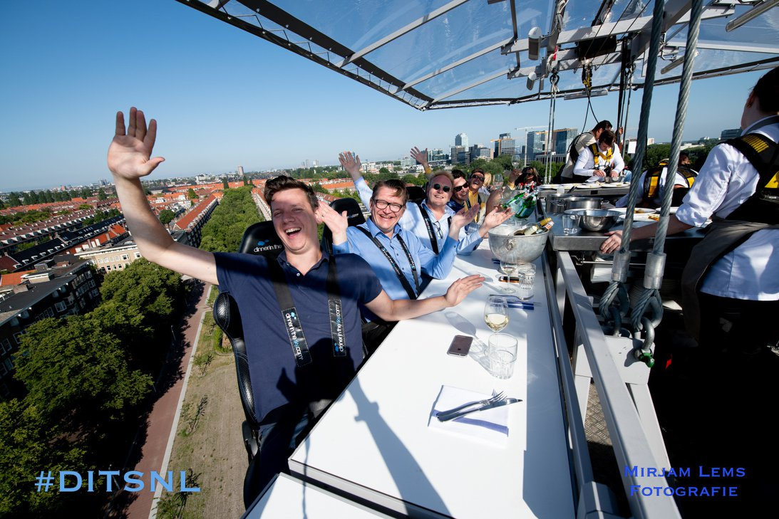 Exclusief: Lunch in the Sky!
