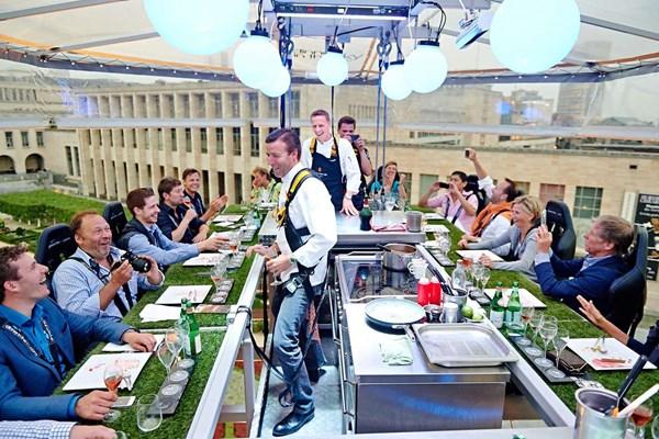 Restaurant op grote hoogte