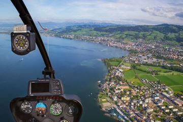 Uitzicht helikoptervlucht