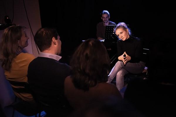 Voorstelling theaterzaaltje Amsterdam