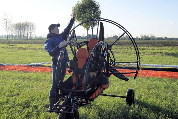 Paramotor opbouwen